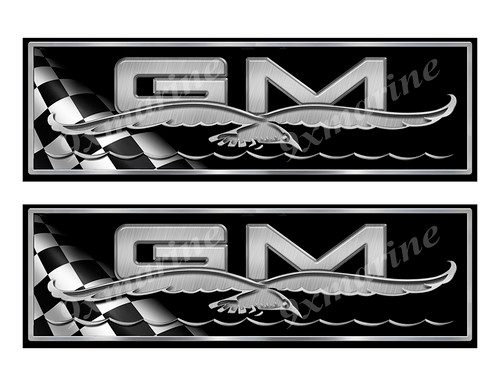 """General Marine 70s Classic Racing 10"""" long Stickers"""