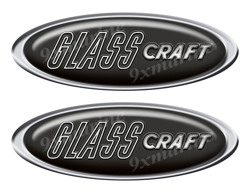 """Two Glass Craft Classic Oval Stickers 10"""" long"""