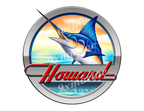 "Howard Marlin Round Designer Sticker 7.5""x7.5"""
