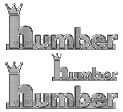 "Humber 60s boat Stickers ""3D Vinyl Replica"" of originals - 10"" long"