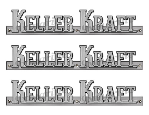 "Keller Kraft 60s boat Stickers ""3D Vinyl Replica"" of originals - 10"" long"