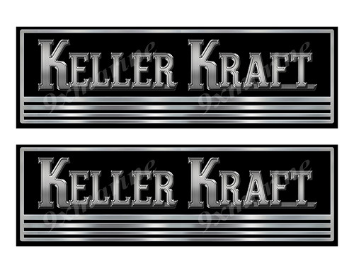Keller Kraft boat Custom Stickers - 10 inch long set. Remastered Name Plate