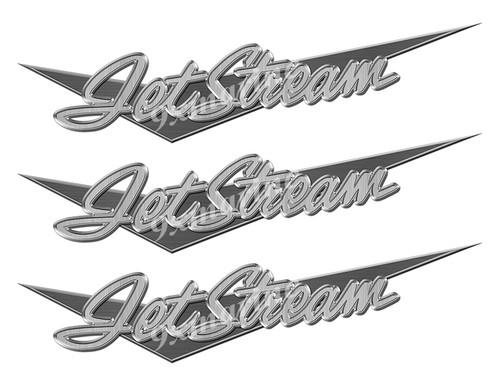"Jetstream boat Stickers ""3D Vinyl Replica"" of originals - 10"" long"