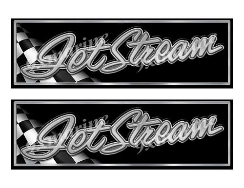 "Jetstream Classic Racing 10"" long Stickers"