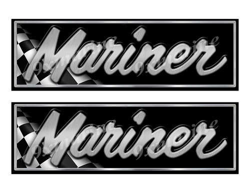 """Mariner Boat Classic Racing 10"""" long Stickers"""