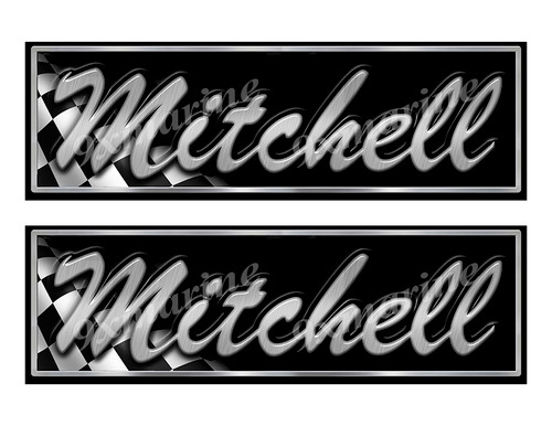 """Mitchell Boat Classic Racing 10"""" long Stickers"""