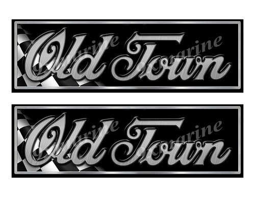 "Old Town Boat Classic Racing 10"" long Stickers"