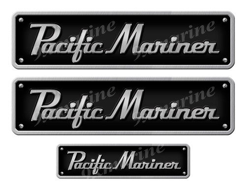 """Pacific Mariner Stickers - 10"""" long set. Replica Name Plate in Vinyl"""