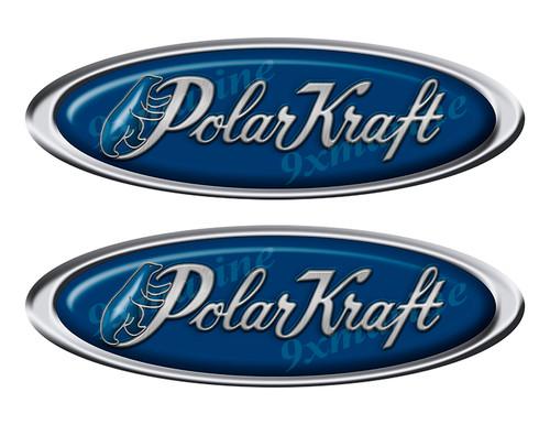 "Two Polar Kraft Classic Oval Stickers 10"" long"