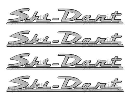 """Ski Dart 60s boat Stickers """"3D Vinyl Replica"""" of originals - 10"""" long"""
