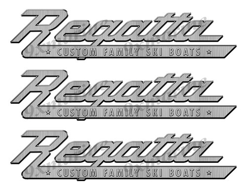 """Regatta 60s boat Stickers """"3D Vinyl Replica"""" of originals - 10"""" long"""