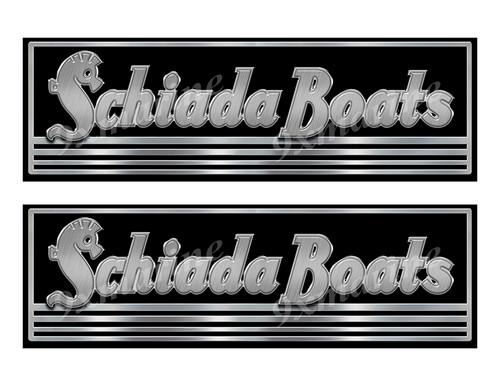 Schiada Custom Stickers - 10 inch long set. Remastered Name Plate