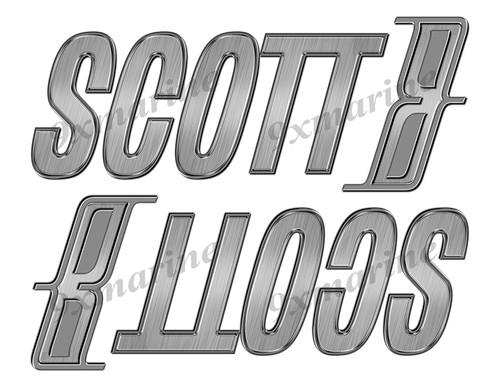 """Scott boat Stickers """"3D Vinyl Replica"""" of originals - 10"""" long"""
