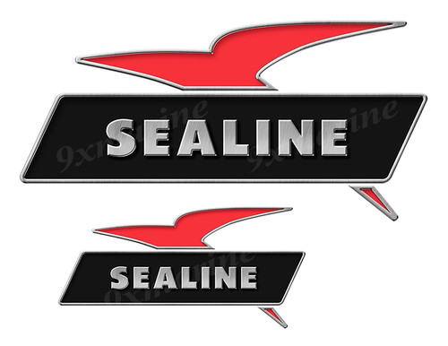 2 Sealine Boats Classic Vintage Stickers Remastered