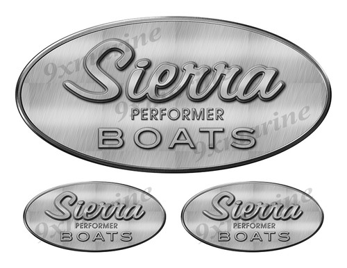 3 Sierra 70s Boats Classic Vintage Stickers Remastered