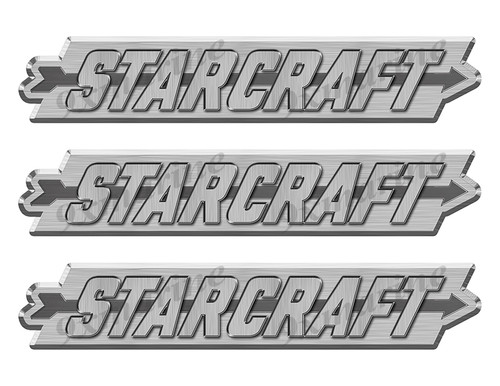 "Starcraft boat Stickers ""3D Vinyl Replica"" of originals - 10"" long"