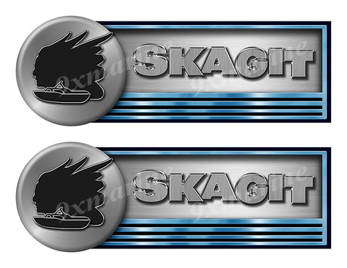"""Two Skagit Stickers for Boat Restoration - 10"""" long each"""