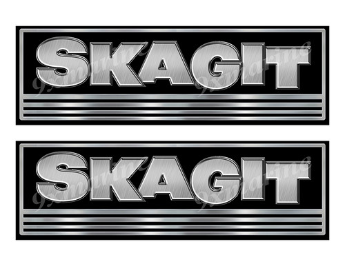 Skagit Custom Stickers - 10 inch long set. Remastered Name Plate