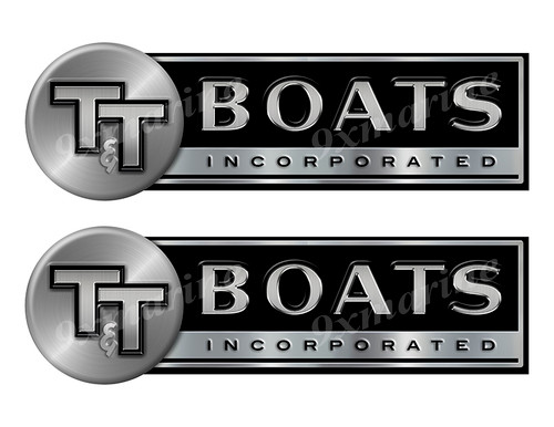 T&T Custom Stickers - 10 inch long set. Remastered Name Plate