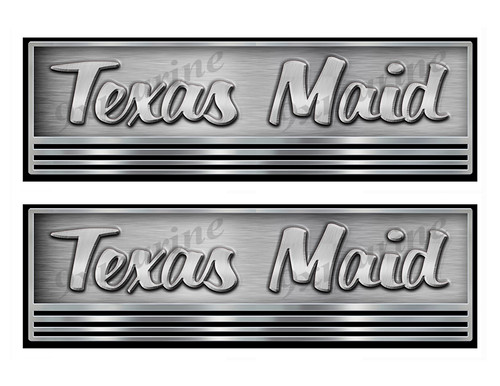 Two Texas Maid Boat Stickers. Not OEM