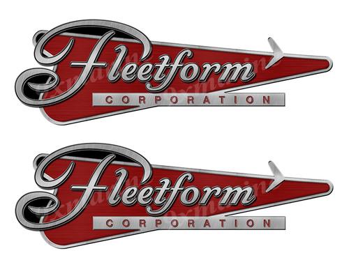 """Two Fleetform designer Stickers 10""""x3.5"""""""