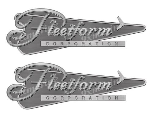 "Fleetform Remastered Sticker. Brushed Metal Style - 10""x3.5"""