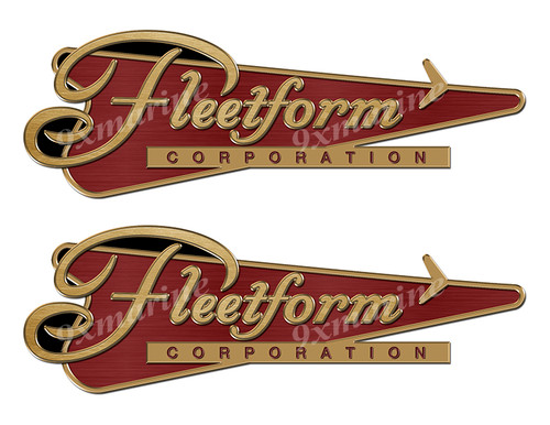 "Fleetform Vintage Stickers ""3D Vinyl Replica"" of originals - 10""x3.5"""