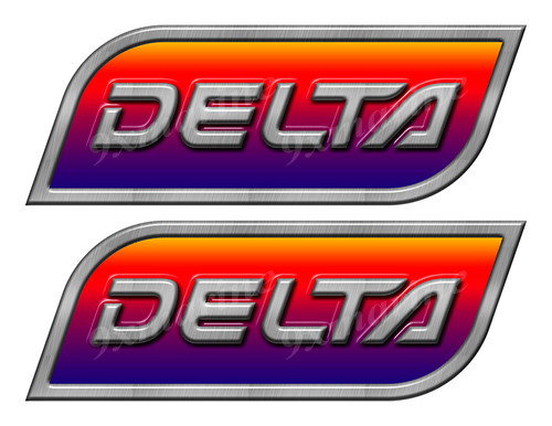 Two Delta Designer Stickers for Boat Restoration. 10 inch long each