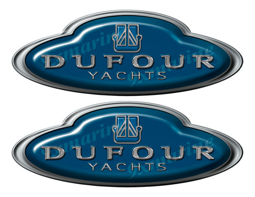 Dufour Yachts Oval Sticker set - Name Plate