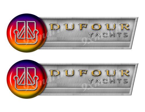 "Dufour Retro Sticker set - 10""x3"". Remastered Name Plate"