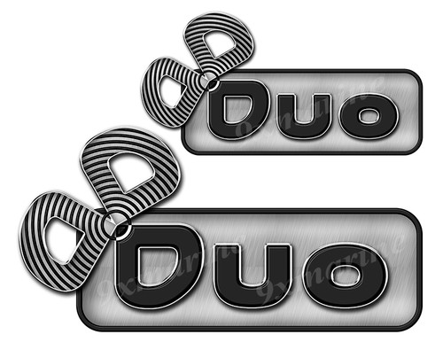 "Duo boat Stickers ""3D Vinyl Replica"" of originals"