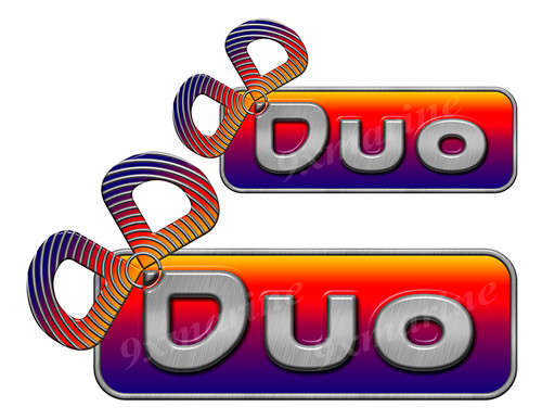 Two Duo Designer Stickers for Boat Restoration