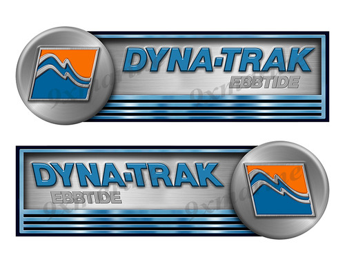"""Two Dyna-Trak Stickers Left/Right - 10""""x3 each"""