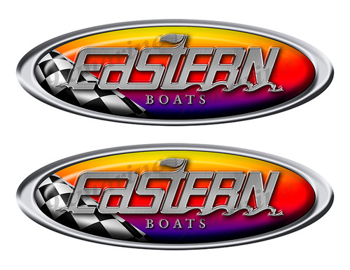 Two Eastern Racing Oval Stickers