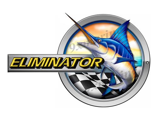 """Eliminator Marlin Round Designer Sticker 10""""x6.5"""""""