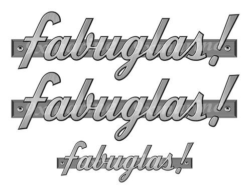 """Fabuglas boat Stickers """"3D Vinyl Replica"""" of originals - 10"""" long"""