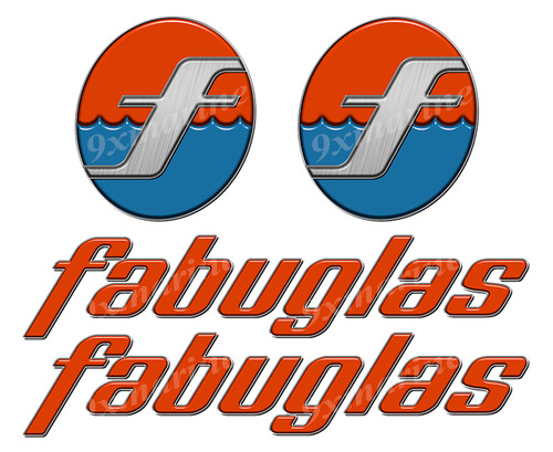 "Fabuglas boat Stickers ""3D Vinyl Replica"" of originals"
