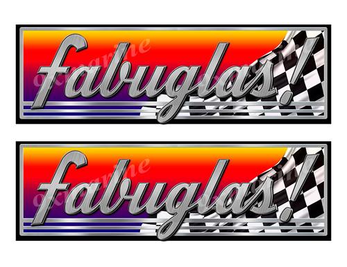 "Fabuglas Classic Racing 10"" long Stickers"