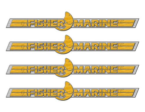 Fisher Marine Boat Designer Stickers Remastered