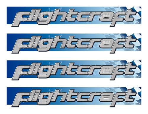 Flightcraft Custom Stickers - 10 inch long set. Remastered Name Plate