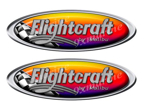Two Flightcraft Racing Oval Stickers