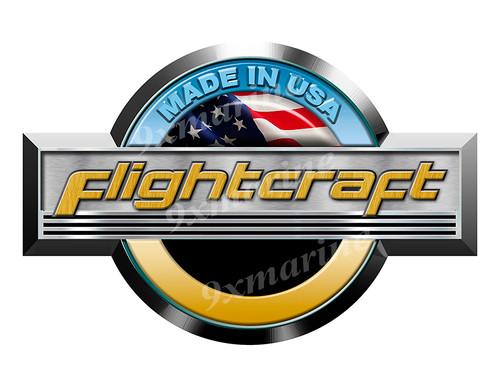 """Single Flightcraft Round Sticker 10""""x6.5"""""""
