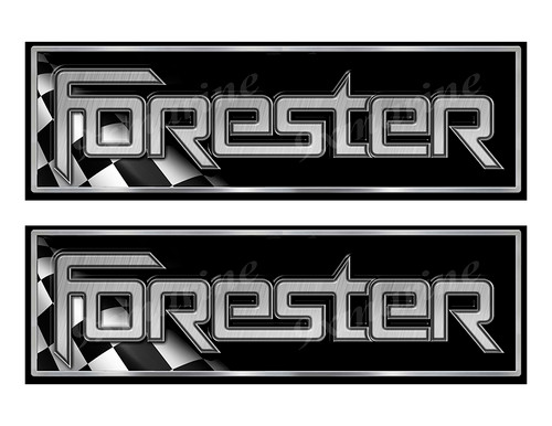 """2 Forester Classic Racing 10"""" long Stickers"""