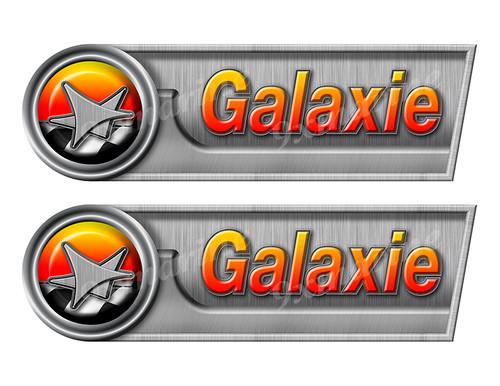 "Galaxie Retro Sticker set - 10""x3"". Remastered Name Plate"