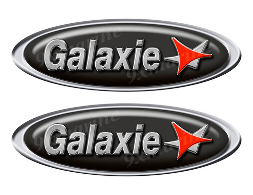 """Two Galaxie Classic Oval Stickers 10"""" long"""
