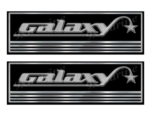Two Galaxy Custom Stickers - 10 inch long set. Remastered Name Plate