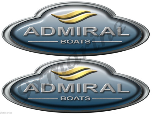 Admiral Boats Stickers. Remastered stickers for boat restoration project