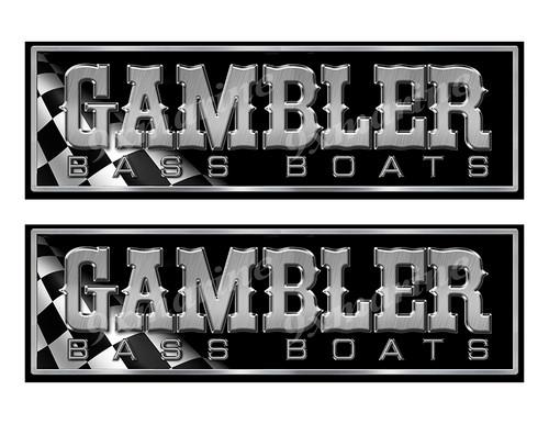 """Gambler Classic Racing 10"""" long Stickers"""