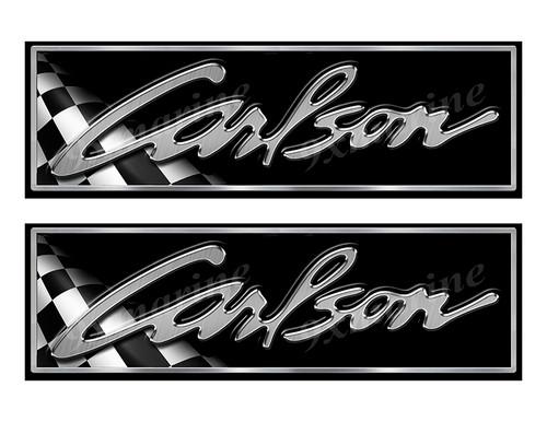 "Carlson Classic Racing 10"" long Stickers"
