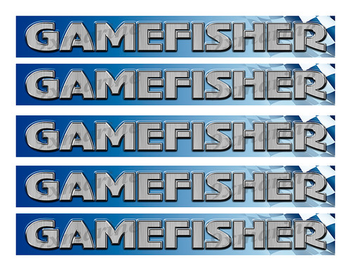 """Gamefisher Classic Racing 10"""" long Stickers"""